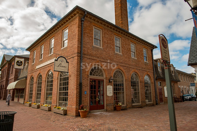 Williamsburg, Virginia - March 26, 2018: Historic houses and buildings in Williamsburg Virginia Stock Photo