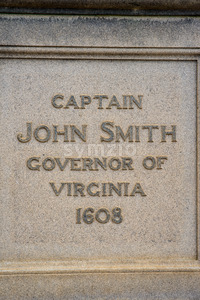 Jamestown, Virginia - March 27, 2018: Statue of Captain John Smith Stock Photo