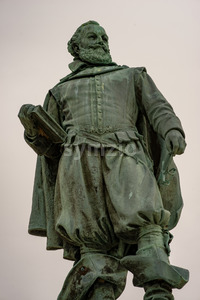 Jamestown, Virginia - March 27, 2018: Statue of Captain John Smith Stock Photo