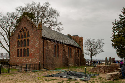 Jamestown, Virginia - March 27, 2018: Jamestown Memorial Church which was constructed in 1906 Stock Photo