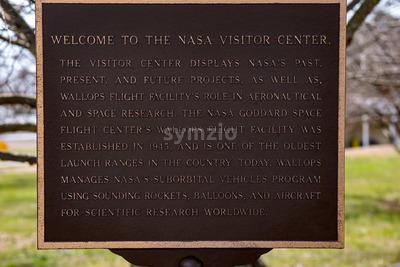 Wallops Island, Virginia - March 28, 2018: NASA Wallops visitor's center Stock Photo