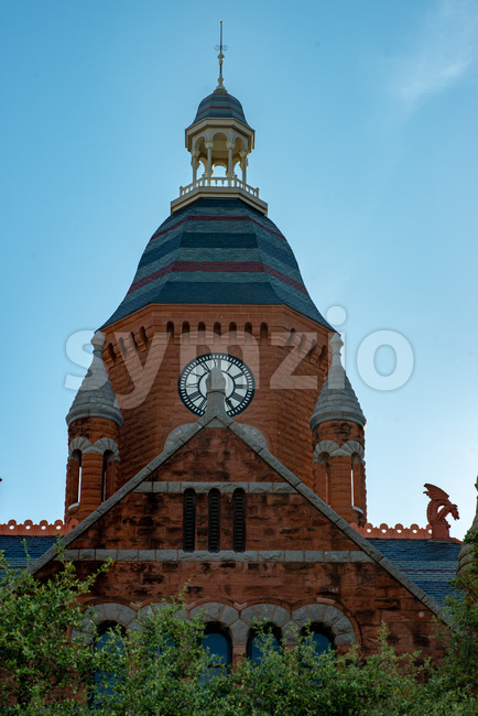 Dallas, Texas - May 7, 2018: Old Red Museum, formerly Dallas County Courthouse in Dallas, Texas Stock Photo