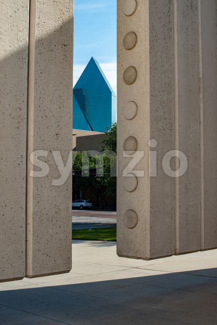 Dallas, Texas - May 7, 2018: Kennedy Memorial, a tribute to John Fitzgerald Kennedy Stock Photo