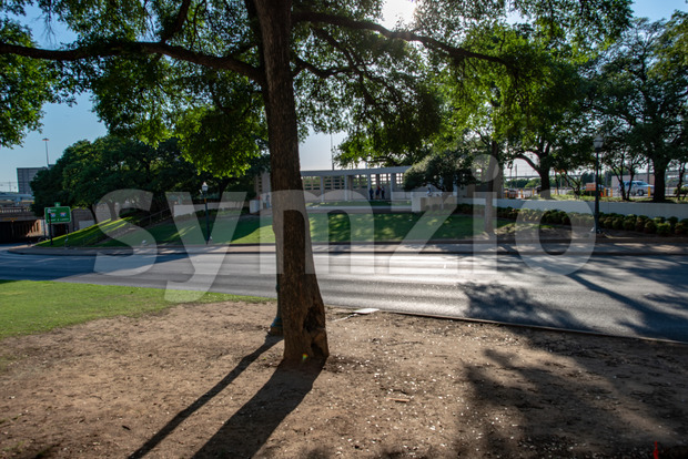 Dallas, Texas - May 7, 2018: View of Dealy Plaza and its surrounding buildings in Downtown Dallas the location of ...