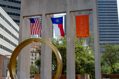 Dallas, Texas - May 7, 2018: Thanks-giving Square, in Dallas, Texas, hosts the non-denominational Thanks giving Chapel Stock Photo