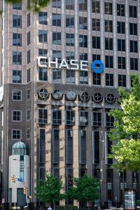 Dallas, Texas - May 7, 2018: Chase Tower, a modern skyscraper in Dallas, Texas Stock Photo