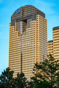 Dallas, Texas - May 7, 2018: Chase Tower, a modern skyscraper in Dallas, Texas Stock Photo