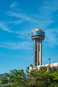 Dallas, Texas - May 7, 2018: Reunion Tower Stock Photo