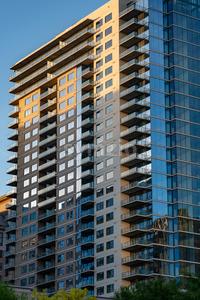 Dallas, Texas - May 7, 2018: Buildings in Downtown Dallas Texas Stock Photo