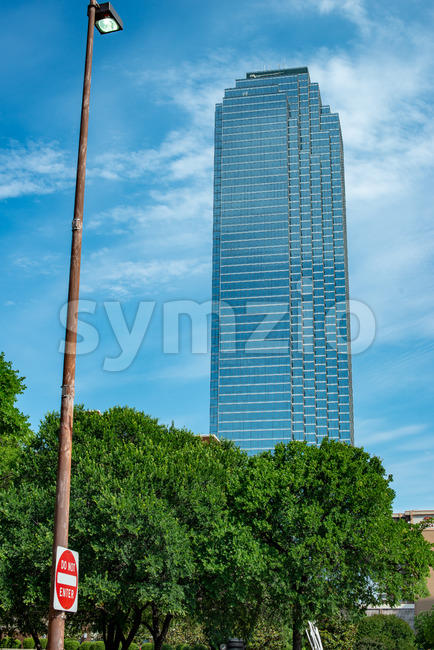 Dallas, Texas - May 7, 2018: View of Buildings in Downtown Dallas Texas