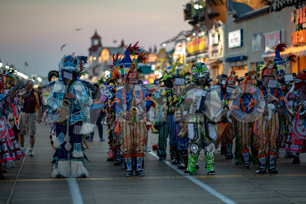 Ocean City, NJ - June 10, 2018: View of the Avalon String Band performs on the Ocean City NJ boardwalk