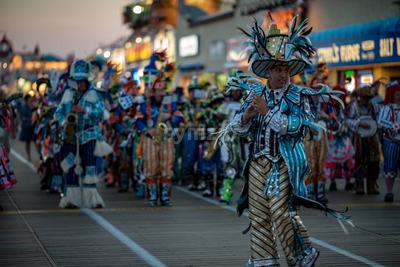 Ocean City, NJ - June 10, 2018: Avalon String Band performs on the Ocean City NJ boardwalk Stock Photo