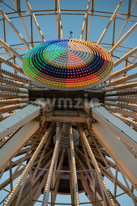 Ferris Wheel on Gillian's Wonderland Pier in Ocean City, NJ at evening time Stock Photo