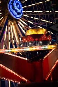 Ferris Wheel on Gillian's Wonderland Pier in Ocean City, NJ at evening time Stock Photo