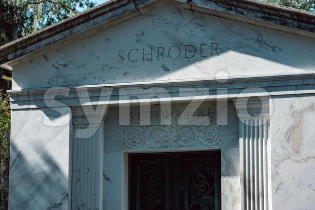 Schroder Schwalbe Cemetery Statuary Statue Bonaventure Cemetery Savannah Georgia Stock Photo