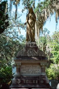 Charles Seiler Cemetery Statuary Statue Bonaventure Cemetery Savannah Georgia Stock Photo