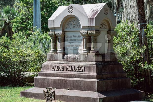 Jacob Paulsen Cemetery Statuary Statue Bonaventure Cemetery Savannah Georgia Stock Photo