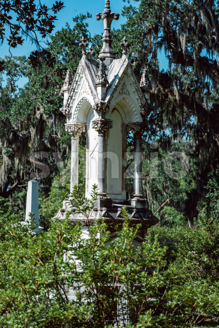 Edward Phdelford Cemetery Statuary Statue Bonaventure Cemetery Savannah Georgia Stock Photo