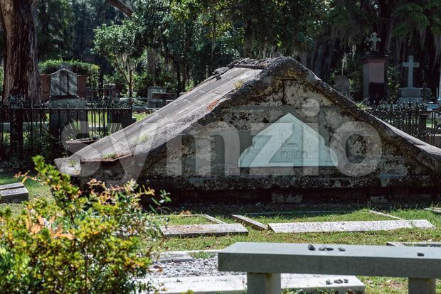 Dr. P. M. Kollock Cemetery Statuary Statue Bonaventure Cemetery Savannah Georgia Stock Photo