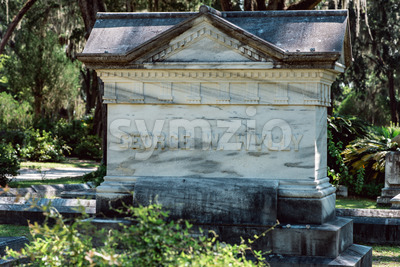George Wylly Cemetery Statuary Statue Bonaventure Cemetery Savannah Georgia Stock Photo