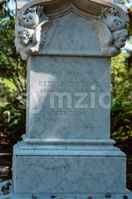 Dieter Cemetery Statuary Statue Bonaventure Cemetery Savannah Georgia Stock Photo
