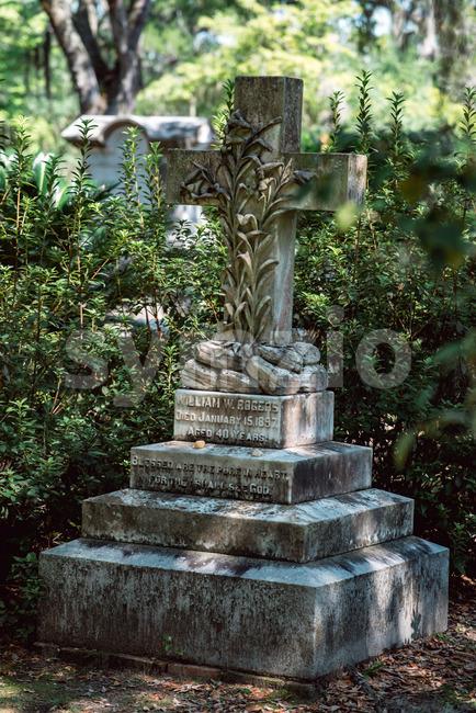 William Rogers Cemetery Statuary Statue Bonaventure Cemetery Savannah Georgia Stock Photo