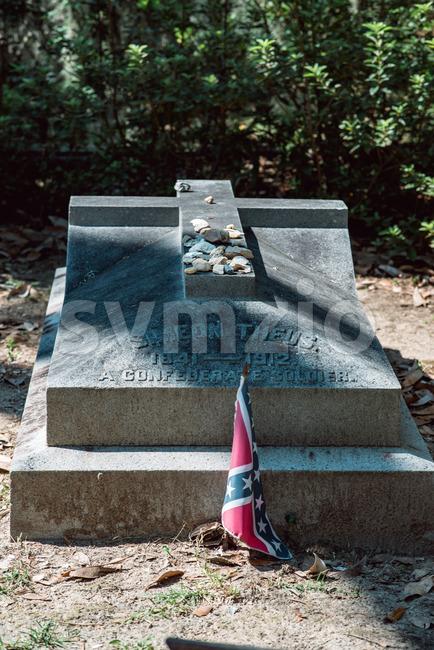 Simeon Theus Cemetery Statuary Statue Bonaventure Cemetery Savannah Georgia Stock Photo