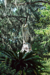 Cemetery Statuary Statue Bonaventure Cemetery Savannah Georgia Stock Photo