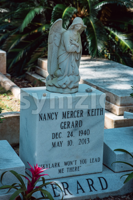 Nancy Mercer Keith Gerard Cemetery Statuary Statue Bonaventure Cemetery Savannah Georgia Stock Photo