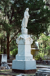 Dieter Cemetery Statuary Statue Bonaventure Cemetery Savannah Georgia Stock Photo