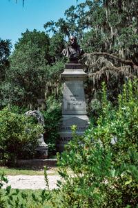 General Robert Harberson Cemetery Statuary Statue Bonaventure Cemetery Savannah Georgia Stock Photo