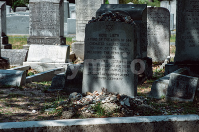 Jewish Cemetery Statuary Statue Bonaventure Cemetery Savannah Georgia Stock Photo
