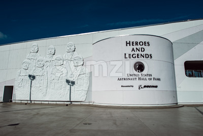 Cape Canaveral, Florida - August 13, 2018: Heroes and Legends Astronaut Hall of Fame at NASA Kennedy Space Center Stock Photo