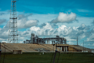 Cape Canaveral, Florida - August 13, 2018: Rocket Launch Pad at NASA Kennedy Space Center Stock Photo