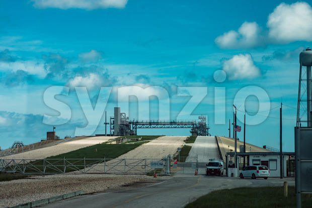 Cape Canaveral, Florida - August 13, 2018: View of Rocket Launch Pad at NASA Kennedy Space Center