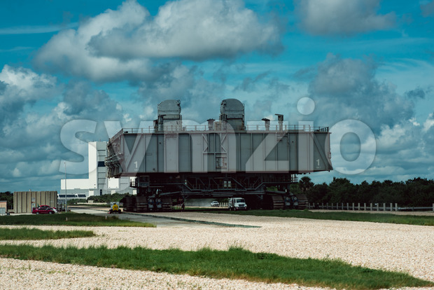 Cape Canaveral, Florida - August 13, 2018: View of Space Shuttle Transport at NASA Kennedy Space Center