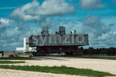 Cape Canaveral, Florida - August 13, 2018: Space Shuttle Transport at NASA Kennedy Space Center Stock Photo