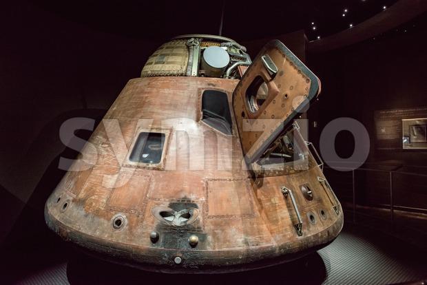 Cape Canaveral, Florida - August 13, 2018: Apollo 14 Capsuleat NASA Kennedy Space Center Stock Photo