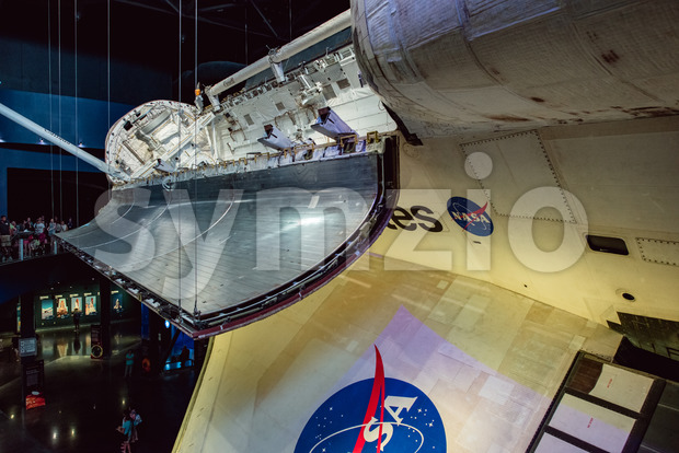 Cape Canaveral, Florida - August 13, 2018: View of Atlantis Space Shuttle at NASA Kennedy Space Center