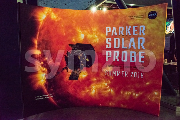 Cape Canaveral, Florida - August 13, 2018: View of Sign for Parker Solar Probe at NASA Kennedy Space Center