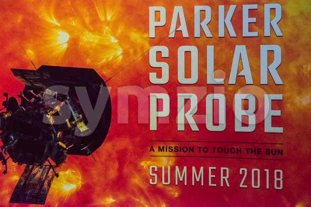 Cape Canaveral, Florida - August 13, 2018: Sign for Parker Solar Probe at NASA Kennedy Space Center Stock Photo