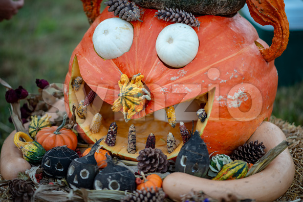 CHADDS FORD, PA - OCTOBER 18: View of The Great Pumpkin Carve carving contest on October 18, 2018