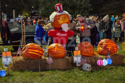 CHADDS FORD, PA - OCTOBER 18: The Great Pumpkin Carve carving contest on October 18, 2018 Stock Photo